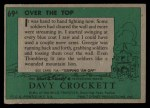 1956 Topps Davy Crockett #69 GRN  Over the Top  Back Thumbnail