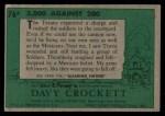 1956 Topps Davy Crockett #76 GRN  5000 Against 200 Back Thumbnail