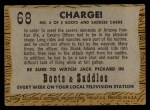 1958 Topps TV Westerns #68   Charge!  Back Thumbnail