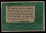 1956 Topps Davy Crockett #12 GRN  Go Get 'Em Davy!  Back Thumbnail