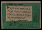 1956 Topps Davy Crockett #24 GRN  Happy Vacation  Back Thumbnail