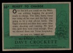 1956 Topps Davy Crockett #66 GRN  Ready To Charge  Back Thumbnail