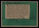 1956 Topps Davy Crockett #10 GRN  Deadly Arrows  Back Thumbnail