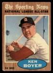 1962 Topps #392   -  Ken Boyer All-Star Front Thumbnail