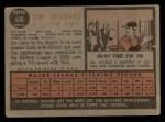 1962 Topps #498  Jim Donohue  Back Thumbnail