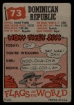 1956 Topps Flags of the World #73   Dominican Republic Back Thumbnail