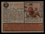 1962 Topps #369  Ted Bowsfield  Back Thumbnail