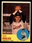 1963 Topps #448  Jack Kralick  Front Thumbnail