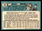 1965 Topps #206  Willie Horton  Back Thumbnail