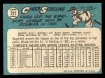 1965 Topps #272  Chuck Schilling  Back Thumbnail