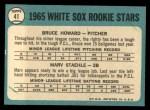 1965 Topps #41   -  Bruce Howard / Marv Staehle White Sox Rookies Back Thumbnail