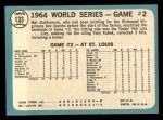 1965 Topps #133   -  Mel Stottlemyre 1964 World Series - Game #2 - Stottlemyre Wins Back Thumbnail