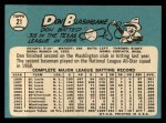 1965 Topps #21  Don Blasingame  Back Thumbnail