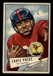 1952 Bowman Small #123  Eddie Price  Front Thumbnail