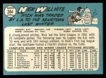 1965 Topps #284  Nick Willhite  Back Thumbnail