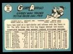 1965 Topps #39  Gerry Arrigo  Back Thumbnail