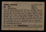 1952 Bowman Small #52  Jim Martin  Back Thumbnail