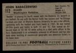 1952 Bowman Small #112  John Badaczewski  Back Thumbnail