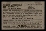 1952 Bowman Small #137  Bob Waterfield  Back Thumbnail