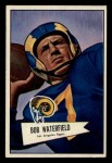 1952 Bowman Small #137  Bob Waterfield  Front Thumbnail