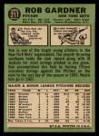 1967 Topps #217  Rob Gardner  Back Thumbnail