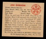 1950 Bowman #44  Joe Dobson  Back Thumbnail