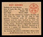 1950 Bowman #16  Roy Sievers  Back Thumbnail