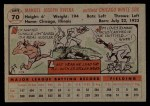 1956 Topps #70  Jim Rivera  Back Thumbnail