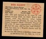 1950 Bowman #20  Bob Elliott  Back Thumbnail