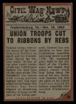 1962 Topps Civil War News #34   Wall of Corpses Back Thumbnail
