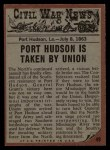 1962 Topps Civil War News #49   The Explosion Back Thumbnail