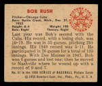 1950 Bowman #61  Bob Rush  Back Thumbnail
