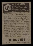 1951 Topps Ringside #74  Billy Graham  Back Thumbnail