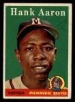 1958 Topps #30 ^WN^ Hank Aaron  Front Thumbnail