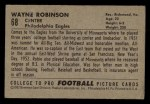 1952 Bowman Small #68  Wayne Robinson  Back Thumbnail