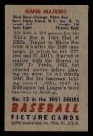 1951 Bowman #12  Hank Majeski  Back Thumbnail