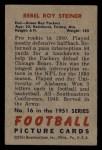 1951 Bowman #16  Roy Steiner  Back Thumbnail