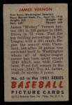1951 Bowman #65  Mickey Vernon  Back Thumbnail