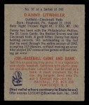 1949 Bowman #97  Danny Litwhiler  Back Thumbnail