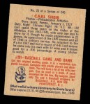 1949 Bowman #25  Carl Scheib  Back Thumbnail