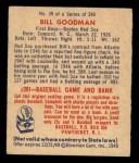 1949 Bowman #39  Billy Goodman  Back Thumbnail