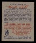 1949 Bowman #139  Hank Arft  Back Thumbnail