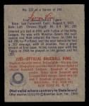 1949 Bowman #122  George Vico  Back Thumbnail