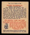 1949 Bowman #21  Frank Baumholtz  Back Thumbnail