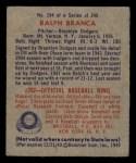 1949 Bowman #194  Ralph Branca  Back Thumbnail