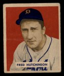 1949 Bowman #196  Fred Hutchinson  Front Thumbnail