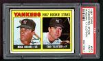 1967 Topps #553   -  Mike Hegan / Thad Tillotson Yankees Rookies Front Thumbnail