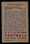1951 Bowman #97  Elmer Angsman  Back Thumbnail