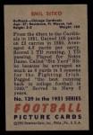1951 Bowman #139  Emil Sitko  Back Thumbnail