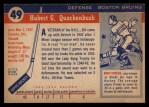 1954 Topps #49  Bill Quackenbush  Back Thumbnail